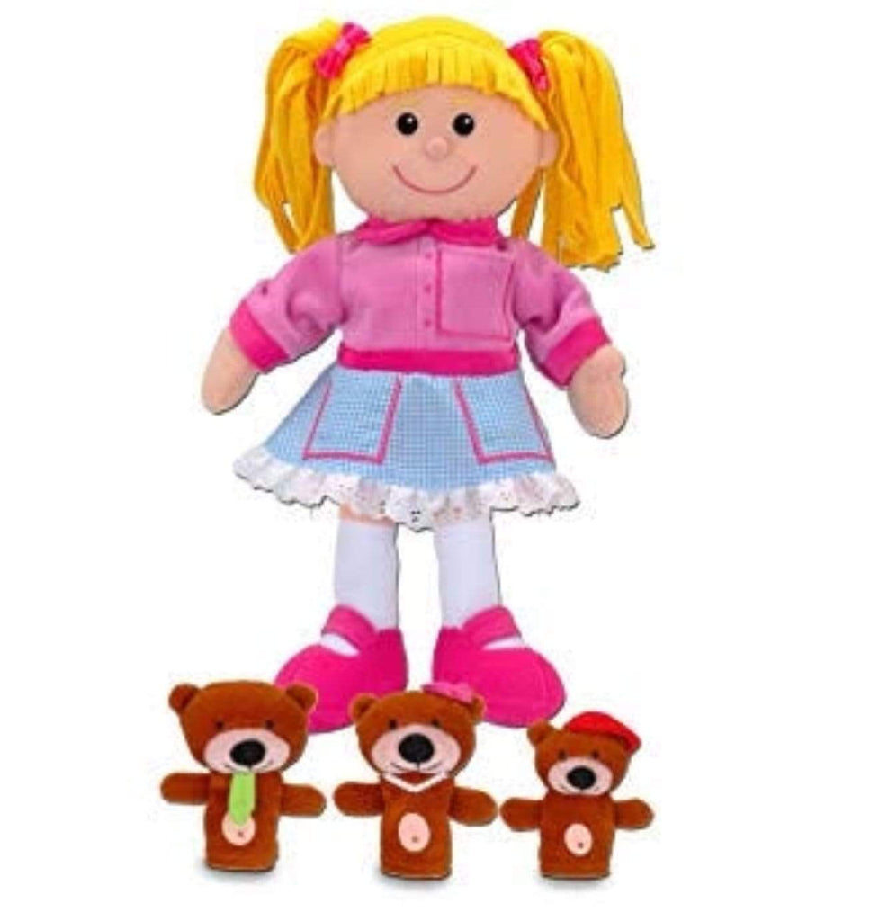 Fiesta Crafts 3 Plus Hand Puppet - Fable - Goldilocks Hand and Finger Puppet Set