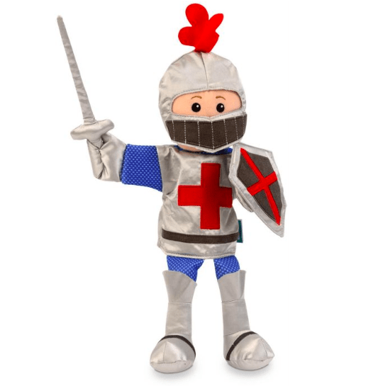 Fiesta Crafts 3 Plus Hand Puppet - People - Knight