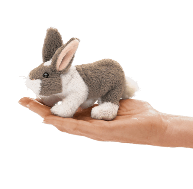 Folkmanis 3 Plus Finger Puppet - Animal - Bunny Rabbit