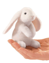 Folkmanis 3 Plus Finger Puppet - Animal - Lop Rabbit