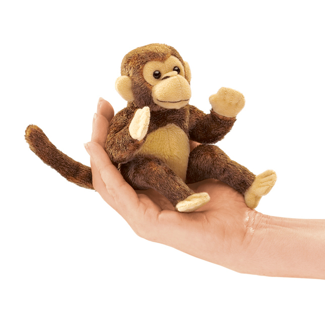 Folkmanis 3 Plus Finger Puppet - Animal - Monkey Soft