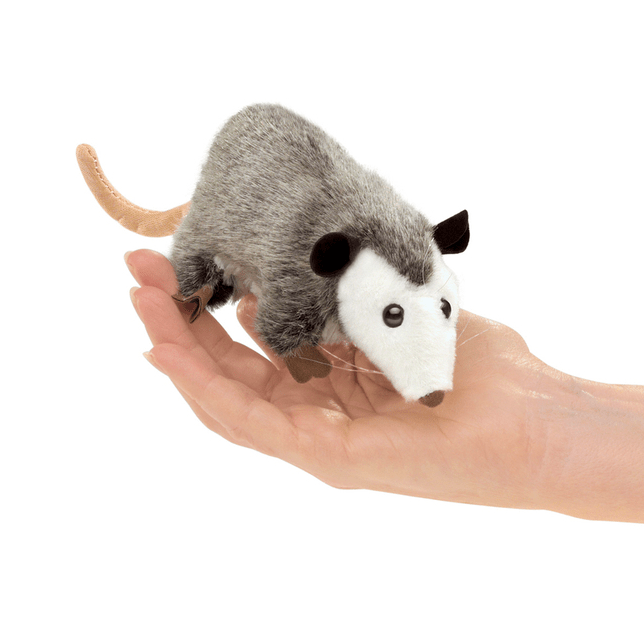 Folkmanis 3 Plus Finger Puppet - Animal - Opossum
