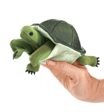 Folkmanis 3 Plus Finger Puppet - Animal - Turtle