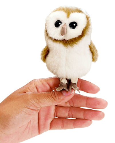 Folkmanis 3 Plus Finger Puppet - Bird - Barn Owl
