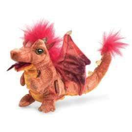 Folkmanis 3 Plus Finger Puppet  - Fire Dragon