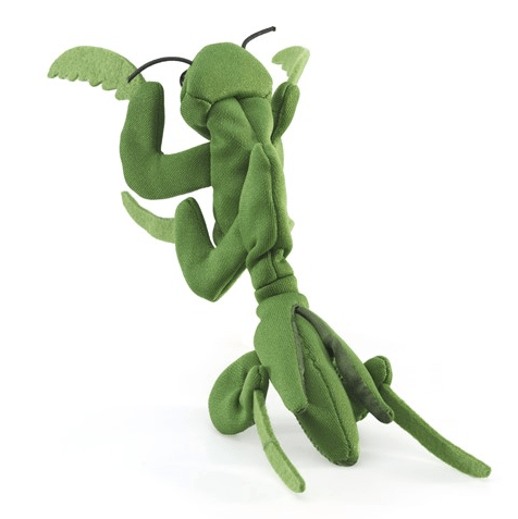 Folkmanis 3 Plus Finger Puppet - Insect - Preying Mantis