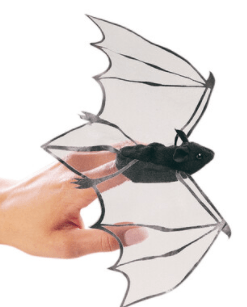 Folkmanis 3 Plus Finger Puppet - Mini - Bat