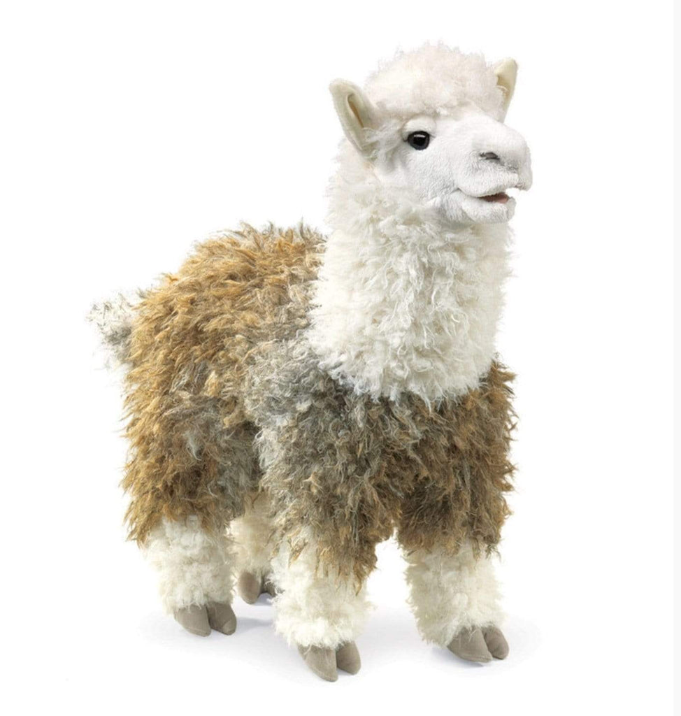 Folkmanis 3 Plus Hand Puppet - Animal - Alpaca