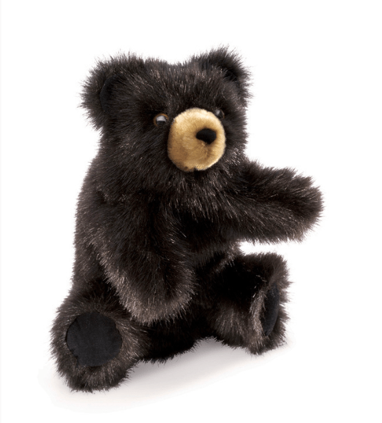 Folkmanis 3 Plus Hand Puppet - Animal - Baby Black Bear