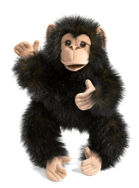 Folkmanis 3 Plus Hand Puppet - Animal - Baby Chimpanzee