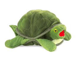 Folkmanis 3 Plus Hand Puppet  - Animal - Baby Sea Turtle