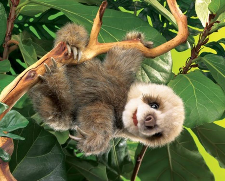 Folkmanis 3 Plus Hand Puppet - Animal - Baby Sloth