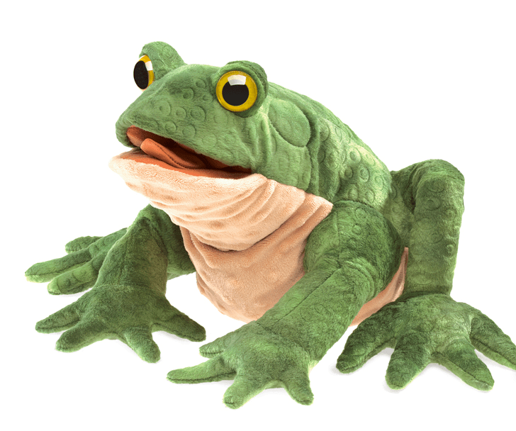 Folkmanis 3 Plus Hand Puppet - Animal - Green Toad