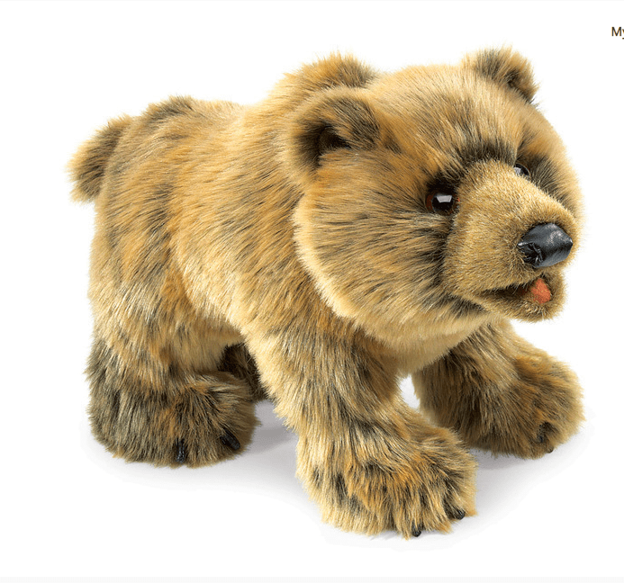 Folkmanis 3 Plus Hand Puppet - Animal - Grizzly Bear
