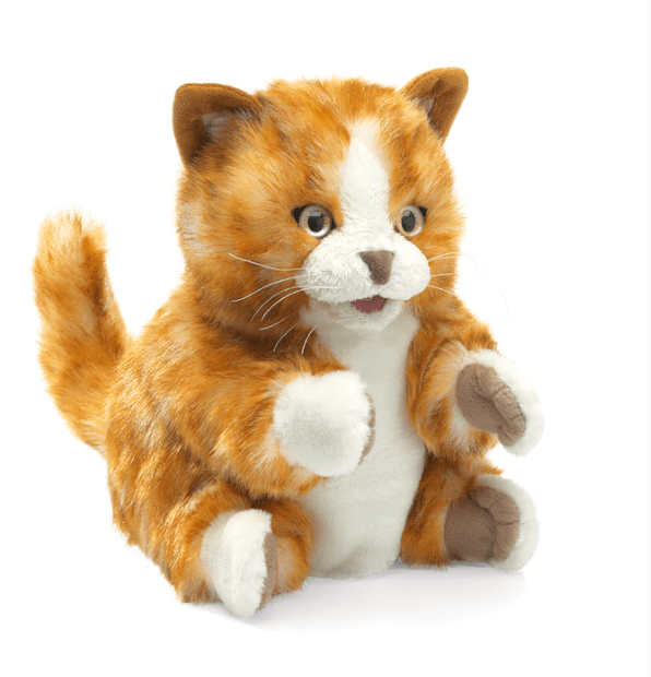 Folkmanis 3 Plus Hand Puppet - Animal - Orange Tabby Kitten