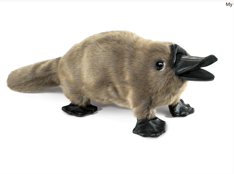 Folkmanis 3 Plus Hand Puppet - Animal - Platypus Baby