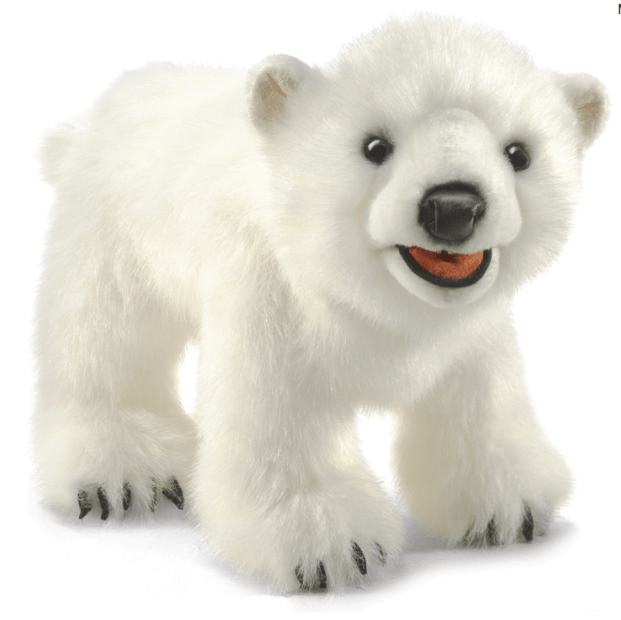 Folkmanis 3 Plus Hand Puppet - Animal - Polar Bear Cub