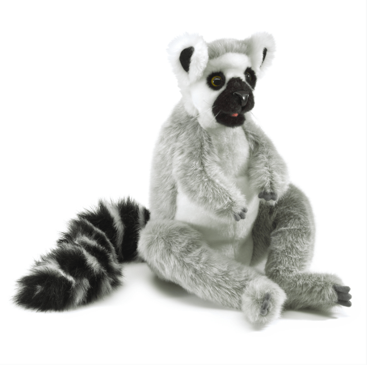 Folkmanis 3 Plus Hand Puppet - Animal - Ring-Tailed Lemur