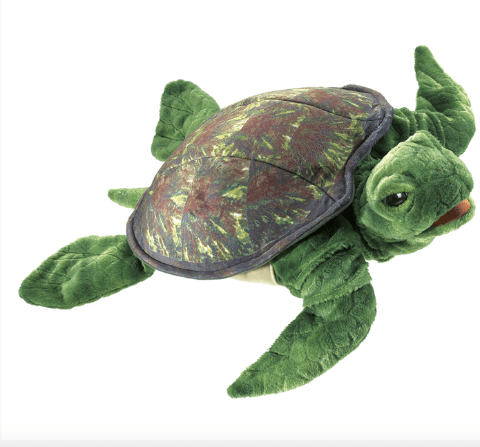 Folkmanis 3 Plus Hand Puppet - Animal - Sea Turtle