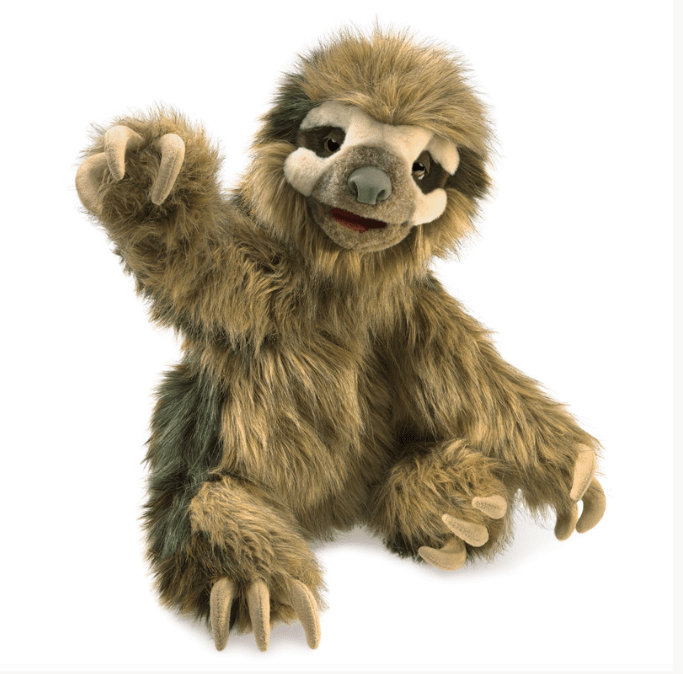 Folkmanis 3 Plus Hand Puppet - Animal - Sloth
