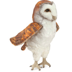 Folkmanis 3 Plus Hand Puppet - Bird - Barn Owl