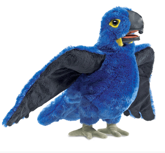 Folkmanis 3 Plus Hand Puppet - Bird - Blue Macaw