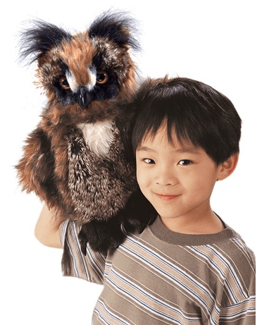 Folkmanis 3 Plus Hand Puppet - Bird - Great Horned Owl