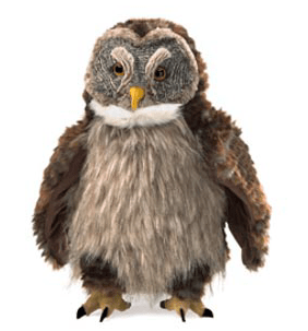 Folkmanis 3 Plus Hand Puppet  - Bird - Hooting Owl