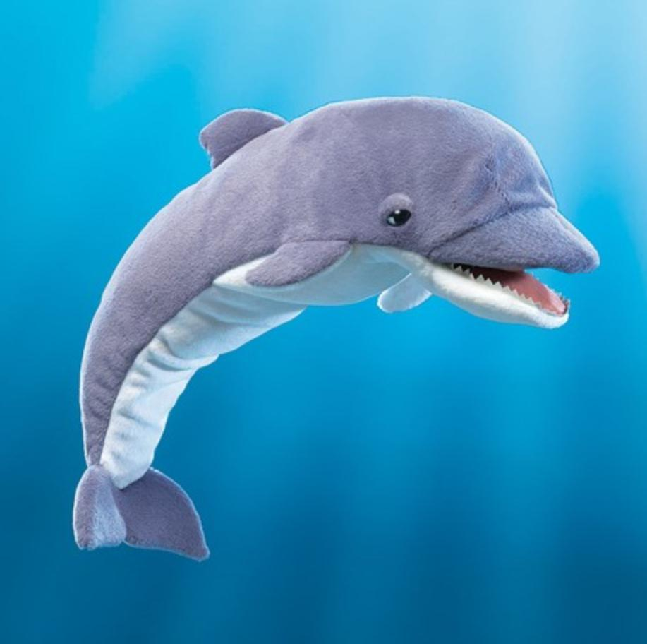 Folkmanis 3 Plus Hand Puppet - Fish - Whistling Dolphin