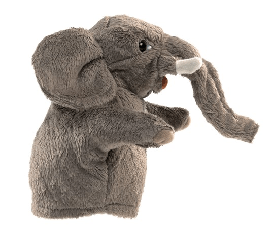 Folkmanis 3 Plus Hand Puppet - Small - Animal - Elephant