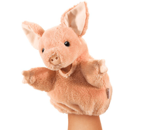Folkmanis 3 Plus Hand Puppet - Small - Animal - Pig