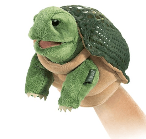 Folkmanis 3 Plus Hand Puppet - Small - Animal - Turtle