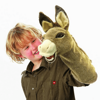 Folkmanis 3 Plus Stage Puppet - Donkey