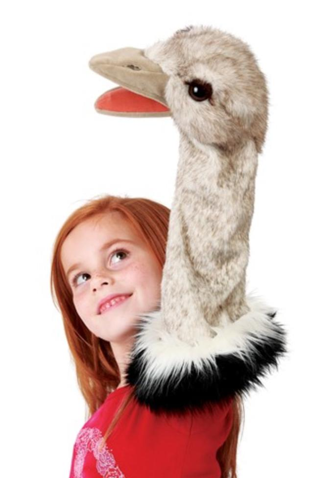 Folkmanis 3 Plus Stage Puppet - Ostrich