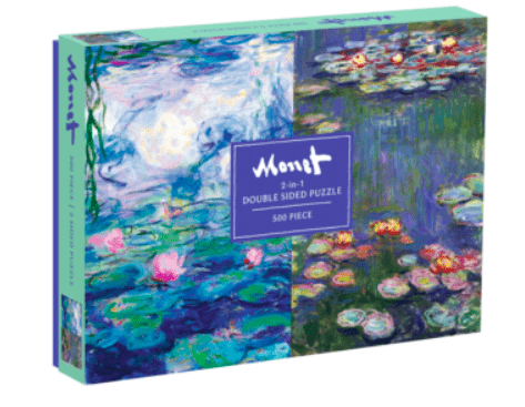 Galison 10 Plus 500 Pc Double-Sided Puzzle - Monet