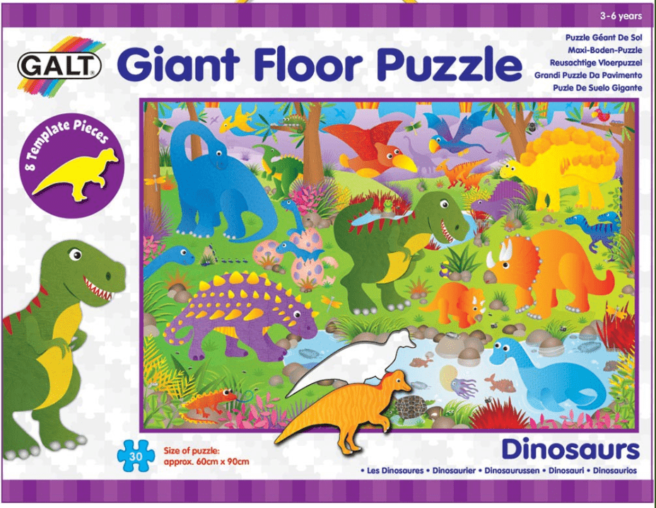 Galt 2 to 3 Years Puzzle - Giant Floor - 30pc Dinosaurs