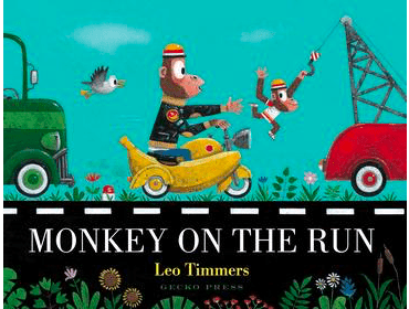 Gecko Press 2 Plus Monkey On The Run - Leo Timmers