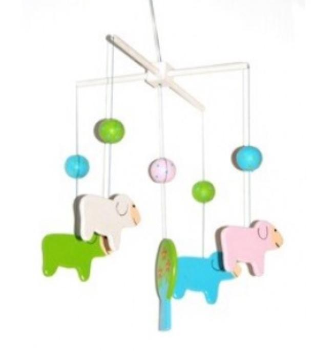 Goldfish Birth to 12 Months Sheep Mobile