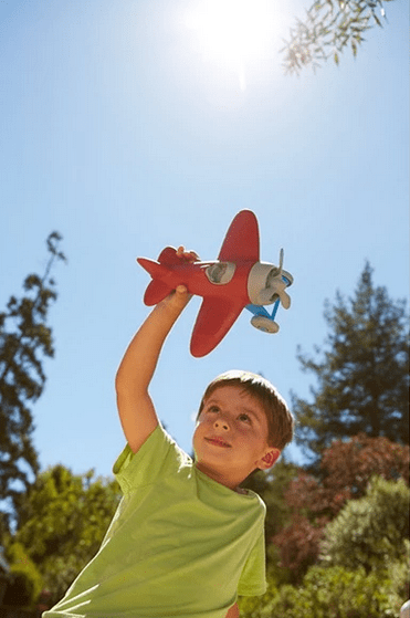 Green Toys 12 Mths Plus Airplane - Red