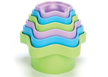 Green Toys 12 Mths to 2 Yrs Stacking Cups Set of 6