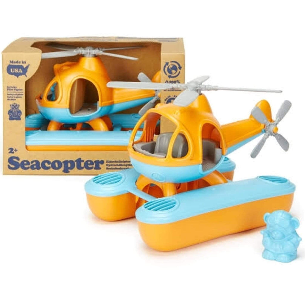 Green Toys 2 Plus Sea Copter - Orange