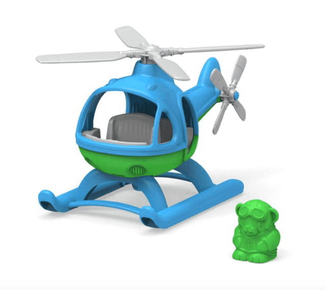 Green Toys 2 Plus Vehicle - Helicopter (Blue)