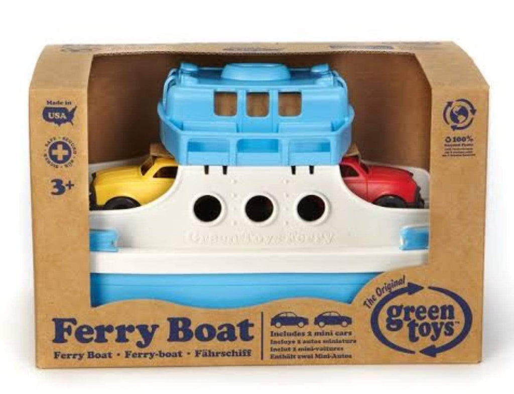 Green Toys 3 Plus Ferry Boat with 2 mini cars