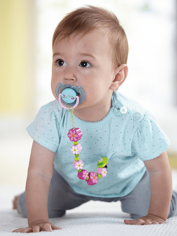 Haba Birth Plus Pacifier Holder - Flowers