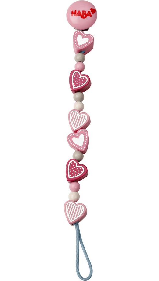 Haba Birth to 12 Months Pacifier Holder - Heart