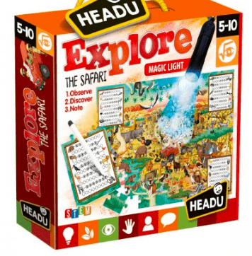 Headu 5 Plus 70 Piece Puzzle - Explore the Safari