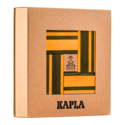 Kapla 8 Plus 40pc with Book Green/Yellow