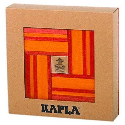 Kapla 8 Plus 40pc with Book Red/Orange