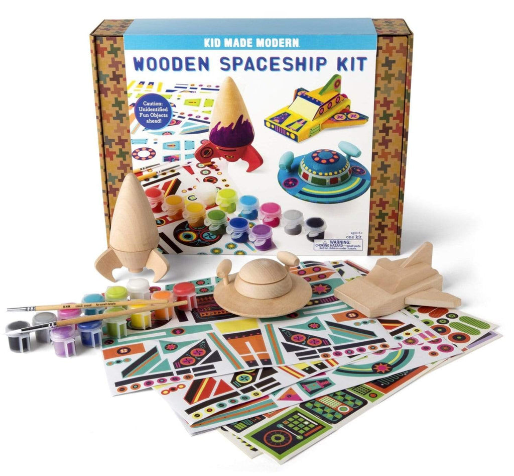 Kid Made Modern 6 Plus Wooden Spaceship Kit