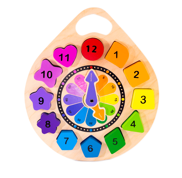 Kiddie Connect 18 Mths Plus Shape Clock Chunky Puzzle